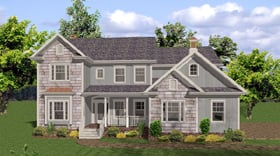 Traditional , Country House Plan 92471 with 5 Beds, 5 Baths, 4 Car Garage Elevation