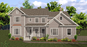 Country Traditional House Plan 92472 Elevation
