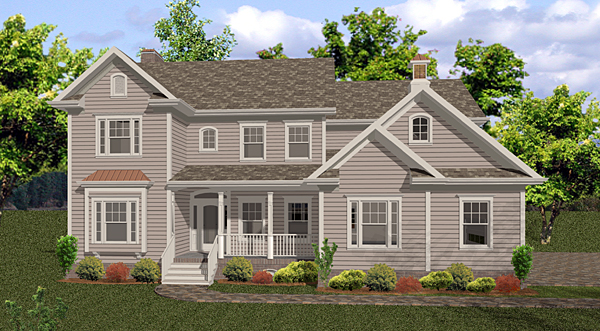 Country, Traditional House Plan 92472 with 5 Beds, 5 Baths, 4 Car Garage Elevation