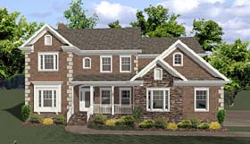 House Plan 92474 | Traditional Tudor Style Plan with 2698 Sq Ft, 4 Bedrooms, 4 Bathrooms, 4 Car Garage Elevation