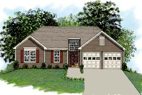 Traditional House Plan 92477 with 3 Beds, 2 Baths, 2 Car Garage Elevation