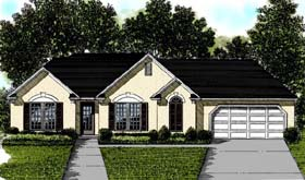 Traditional House Plan 92482 with 3 Beds, 2 Baths, 2 Car Garage Elevation