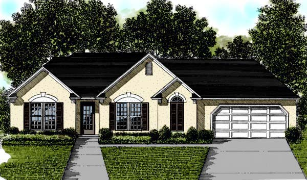 Traditional House Plan 92482 Elevation