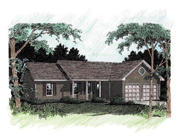 Ranch House Plan 92484 Elevation
