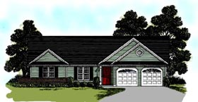 Ranch House Plan 92487 Elevation