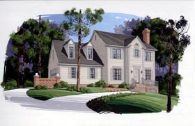 Colonial House Plan 92490 Elevation