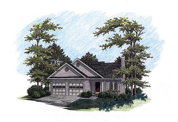 Traditional House Plan 92491 Elevation