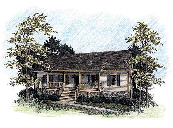 Ranch House Plan 92493 Elevation