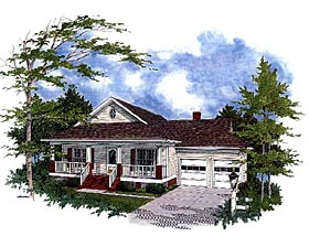 Bungalow Traditional House Plan 92494 Elevation