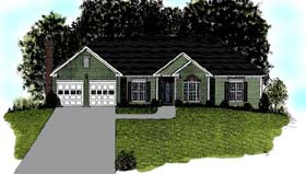 Traditional House Plan 92496 Elevation