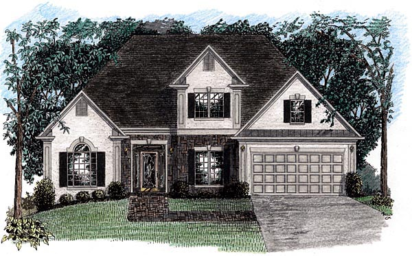 European House Plan 92497 Elevation