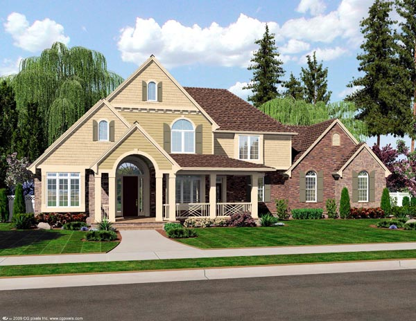 Country, Traditional House Plan 92600 with 3 Beds, 2 Baths, 3 Car Garage Elevation