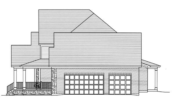 Country, Traditional House Plan 92600 with 3 Beds, 2 Baths, 3 Car Garage Picture 2