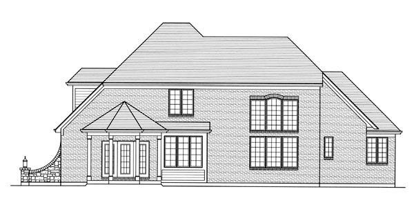 House Plan 92602 Rear Elevation