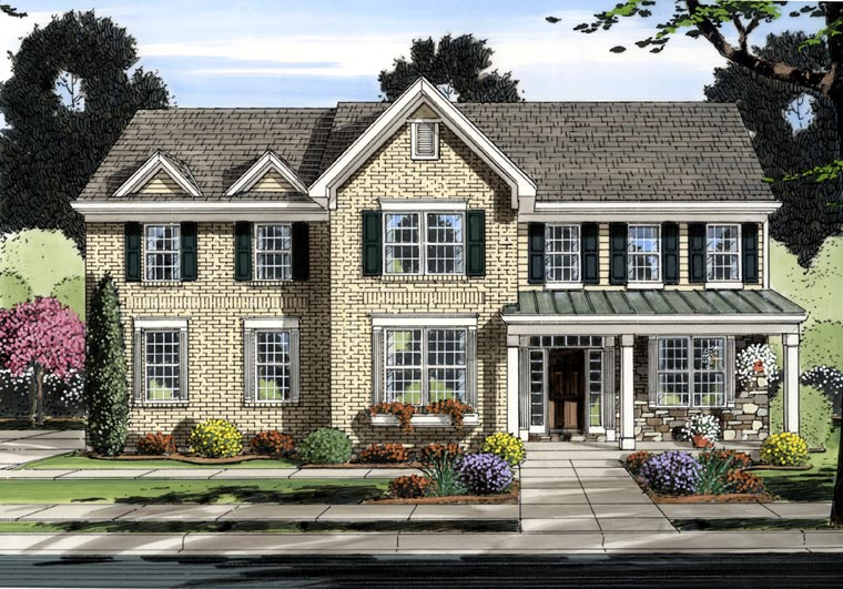 Traditional House Plan 92603 Elevation