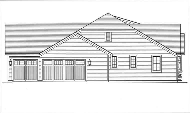 Craftsman, Ranch House Plan 92604 with 3 Beds, 3 Baths, 3 Car Garage Picture 1