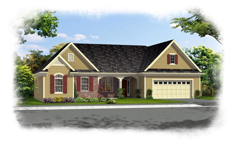 Ranch House Plan 92605 Elevation