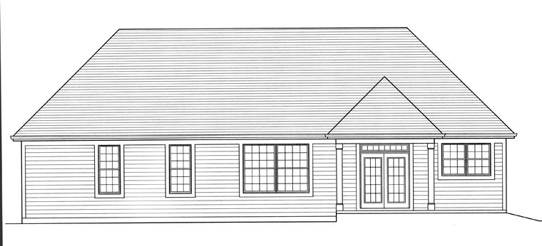 Ranch House Plan 92605 Rear Elevation