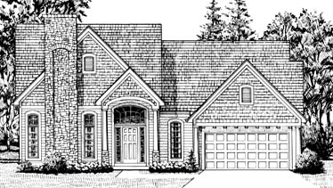Colonial House Plan 92606 with 3 Beds, 3 Baths, 2 Car Garage Elevation