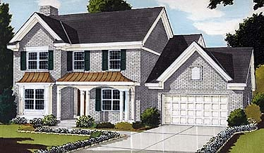 Colonial, Country, Southern House Plan 92607 with 4 Beds, 3 Baths, 2 Car Garage Elevation