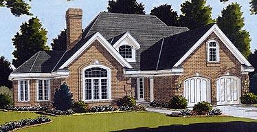 European Victorian House Plan 92608 Elevation