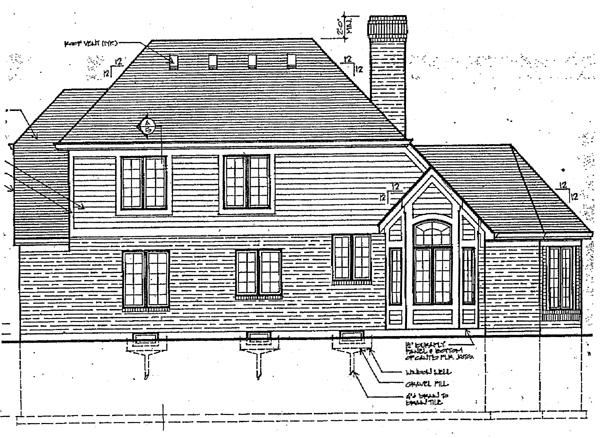 European Victorian House Plan 92608 Rear Elevation
