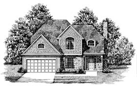 House Plan 92611 | Bungalow Style Plan with 2084 Sq Ft, 4 Bedrooms, 3 Bathrooms Elevation