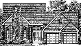 Colonial House Plan 92612 with 3 Beds, 3 Baths Elevation