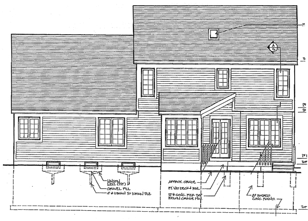 Colonial House Plan 92612 Rear Elevation