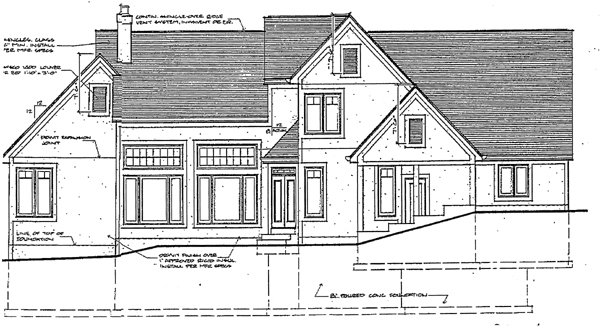 Country Traditional House Plan 92613 Rear Elevation