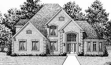 European House Plan 92614 Elevation