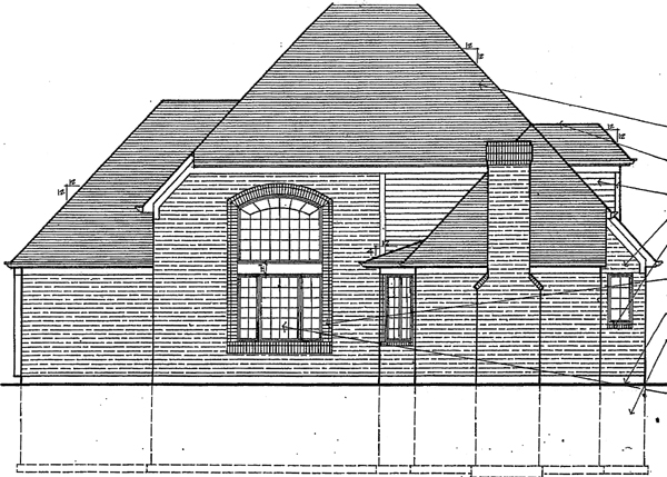 European House Plan 92614 Rear Elevation