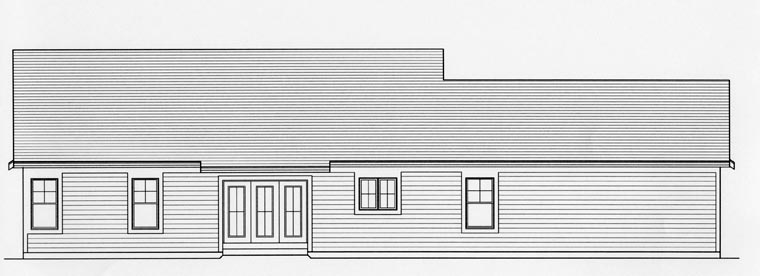 Ranch House Plan 92616 Rear Elevation
