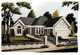 House Plan 92617 | European Style Plan with 1955 Sq Ft, 3 Bedrooms, 2 Bathrooms, 2 Car Garage Elevation