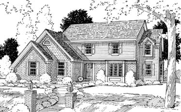 Colonial , Country , Elevation of Plan 92618