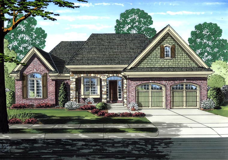House Plan 92620 Elevation