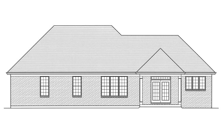 House Plan 92620 Rear Elevation