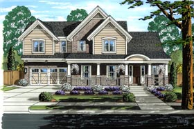 House Plan 92621 with 3 Beds, 3 Baths, 2 Car Garage Elevation