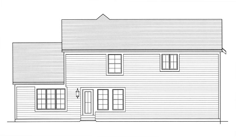 House Plan 92621 Rear Elevation