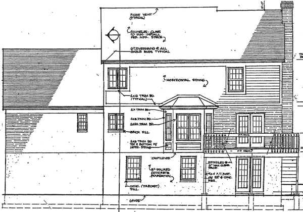 Colonial Southern House Plan 92622 Rear Elevation