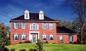 European , Colonial House Plan 92623 with 4 Beds, 3 Baths, 2 Car Garage Elevation