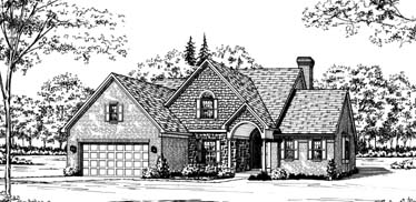 Bungalow European House Plan 92629 Elevation
