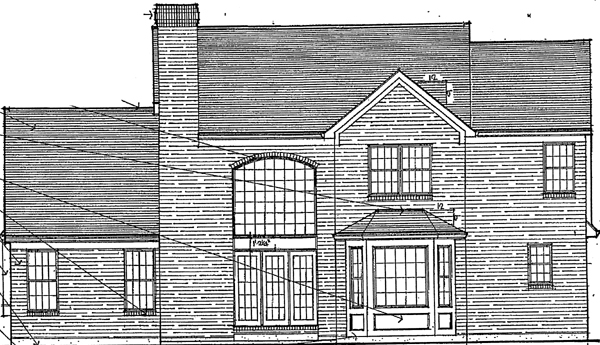 Bungalow European House Plan 92629 Rear Elevation