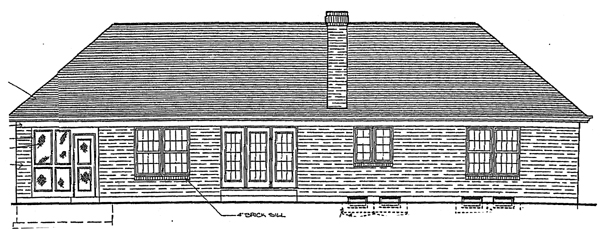 Traditional House Plan 92630 Rear Elevation