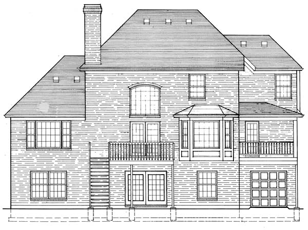 Traditional House Plan 92631 Rear Elevation