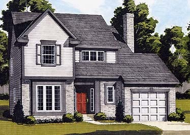 Bungalow , Colonial , Elevation of Plan 92632