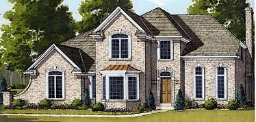 European House Plan 92634 with 4 Beds, 3 Baths, 2 Car Garage Picture 1