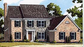 Bungalow Colonial House Plan 92637 Elevation