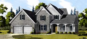 House Plan 92638 | Bungalow Country Traditional Style Plan with 2259 Sq Ft, 4 Bedrooms, 3 Bathrooms Elevation
