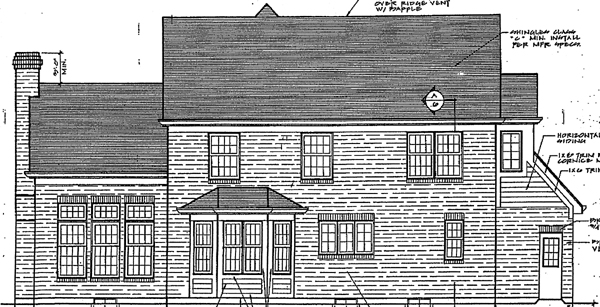 Bungalow Country Traditional House Plan 92638 Rear Elevation